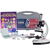 AMSCOPE-KIDS 120X-1200X 48pc Metal Arm Educational Starter Biological Microscope Kit + Book