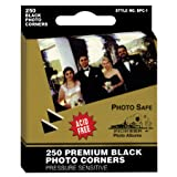 Pioneer Photo BPC1 Corners Self Adhesive, 250/Pkg, Black