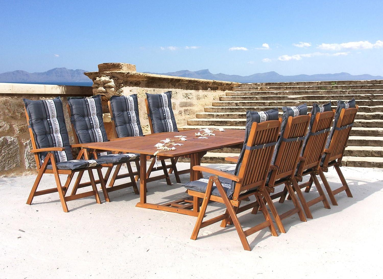 Garten Möbelgruppe Cuba 17tlg Premium Grey mit ausziehbaren Tisch online bestellen