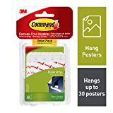 Command Poster Hanging Strips Value Pack, Small, White, 60-Pairs (17024-60ES) (Color: White, Tamaño: 60 Strips)