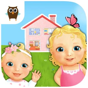 Sweet Baby Girl - Dream House ( 5 in 1 - take care of baby, bake a cake in the kitchen, play in backyard, decorate living room and celebrate birthday party) from TutoTOONS