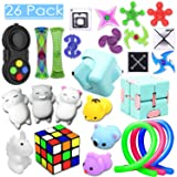 26 Pack Sensory Toys Set, Relieves Stress and Anxiety Fidget Toy for Children Adults, Special Toys Assortment for Birthday Party Favors, Classroom Rewards Prizes, Carnival, Piñata Goodie Bag Fillers (Color: Fidget Pack)