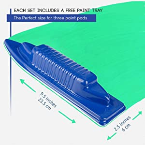 The Worlds Best Paint Pad Set: Maximum Coverage, Minimum Time. Accurate, Detailed Cutting in for Decorating and Painting from Luigi's