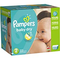Pampers Baby Dry Diapers Economy Pack Plus, Size 2 (222 Count)