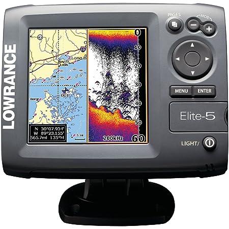 Lecteur de Cartes GPS Sondeur LOWRANCE Elite-5 Combo