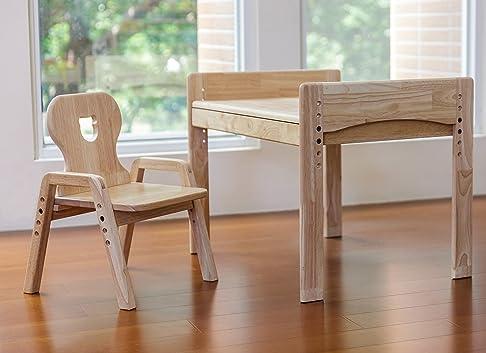 mesas Illa Telo Protettivo Bambini, Sedia da tavolo + per bambini, motivo: orso, 100% in legno massiccio