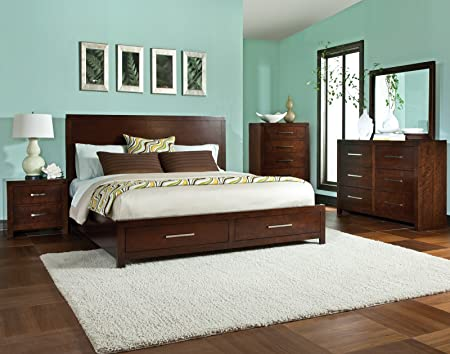 Standard Furniture Metro 2 Piece Platform Bedroom Set in Dark Merlot
