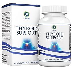 Thyroid Support Supplement - (Vegetarian) - A complex blend of Vitamin B12 Iodine Zinc Selenium Ashwagandha...