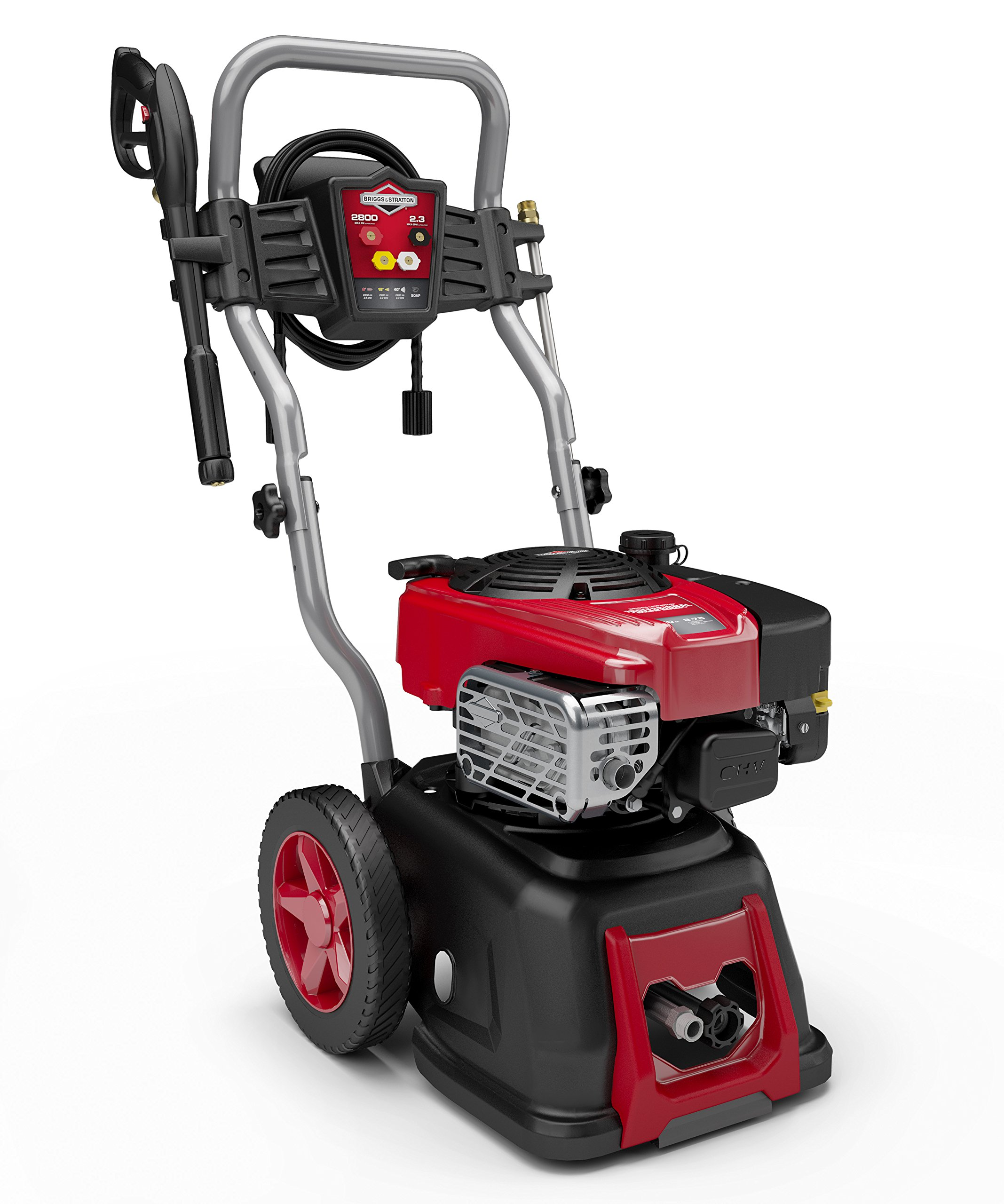 Briggs and Stratton 20593 2.3-GPM 2800-PSI Gas Pressure Washer with 850-Professional Series 190cc Engine, Full Steel Frame and ReadyStart Technology