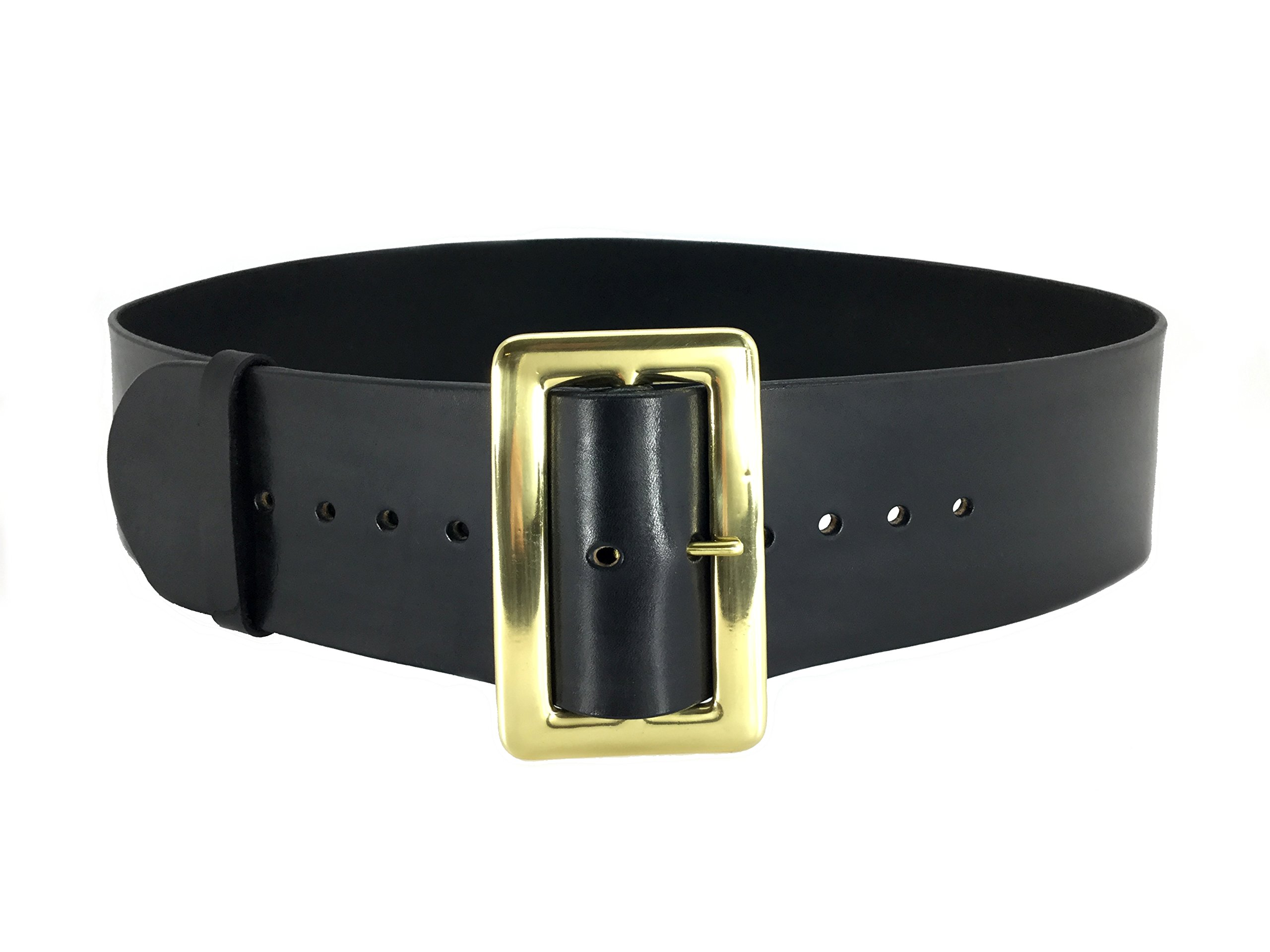 black leather santa claus belt 10 oz solid