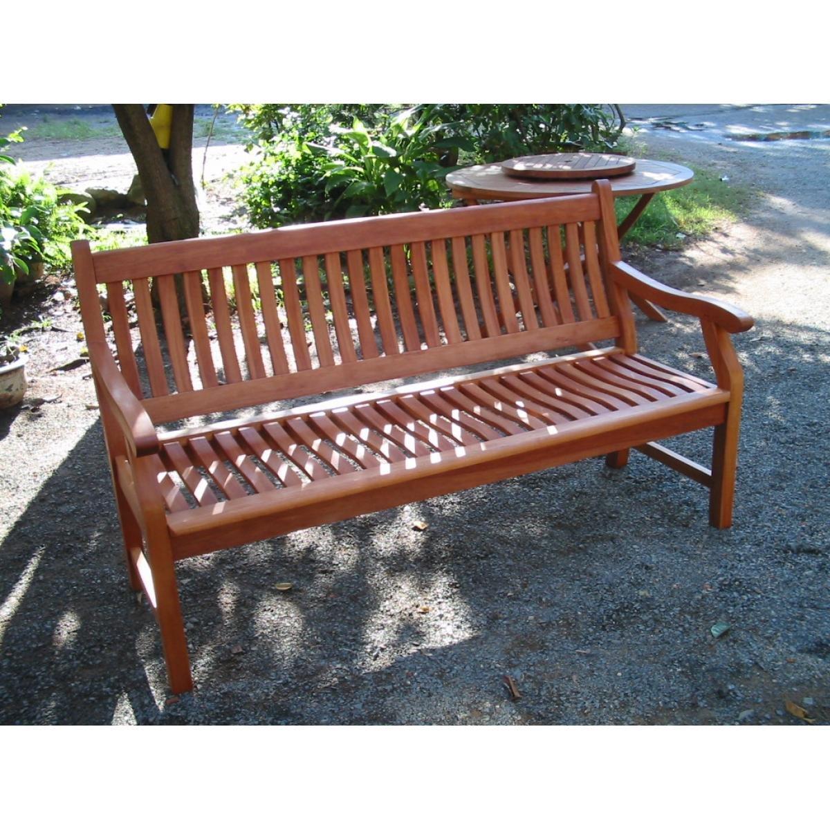 Gartenbank NEW JERSEY, 2-Sitzer, Holzbank aus Hartholz Akazie