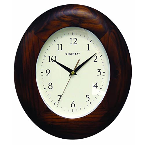 Chaney Instruments Oval Wood Wall Clock