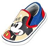 Joah Store Boys Girls Mickey Mouse Star Wars Frozen Elsa Avengers Characters Slip-on Sneakers Shoes (8 M US Toddler, Mickey Mouse) (Color: Mickey Mouse, Tamaño: 8 M US Toddler)