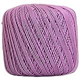 Threadart 100% Pure Cotton Crochet Thread - SIZE 3 - Color 20 - LILAC -2 sizes 27 colors available (Color: LILAC, Tamaño: SIZE 3 SINGLE)