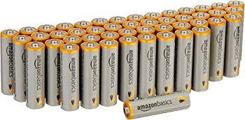 48-Pack AmazonBasics AA Performance Alkaline Batteries