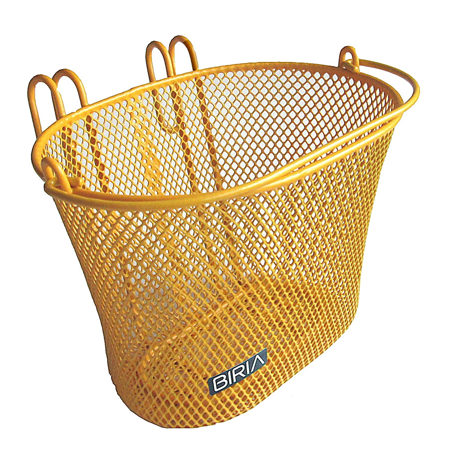 basket bike front hooks wire mesh bicycle removable swing handle yellow orange ebay. Black Bedroom Furniture Sets. Home Design Ideas