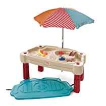 Step2 Adjustable Sand and Water Table Tan/Maroon/Blue