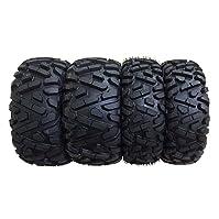 cheap atv tires-Set of 4 New Wanda ATV/UTV Tires 25x8-12 Front