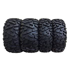 cheap atv tires-Set of 4 New Wanda ATV/UTV Tires 25x8-12 Front