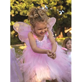 Pink Fairy Wings and Wand Fairy Party Costume As Girls Birthday Gifts Girls Birthday Party Favor