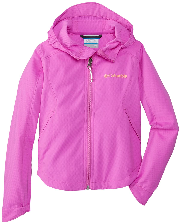 Columbia Little Girls' Splash Flash II Hooded Softshell Jacket columbia field master ii ca007 430 page 1