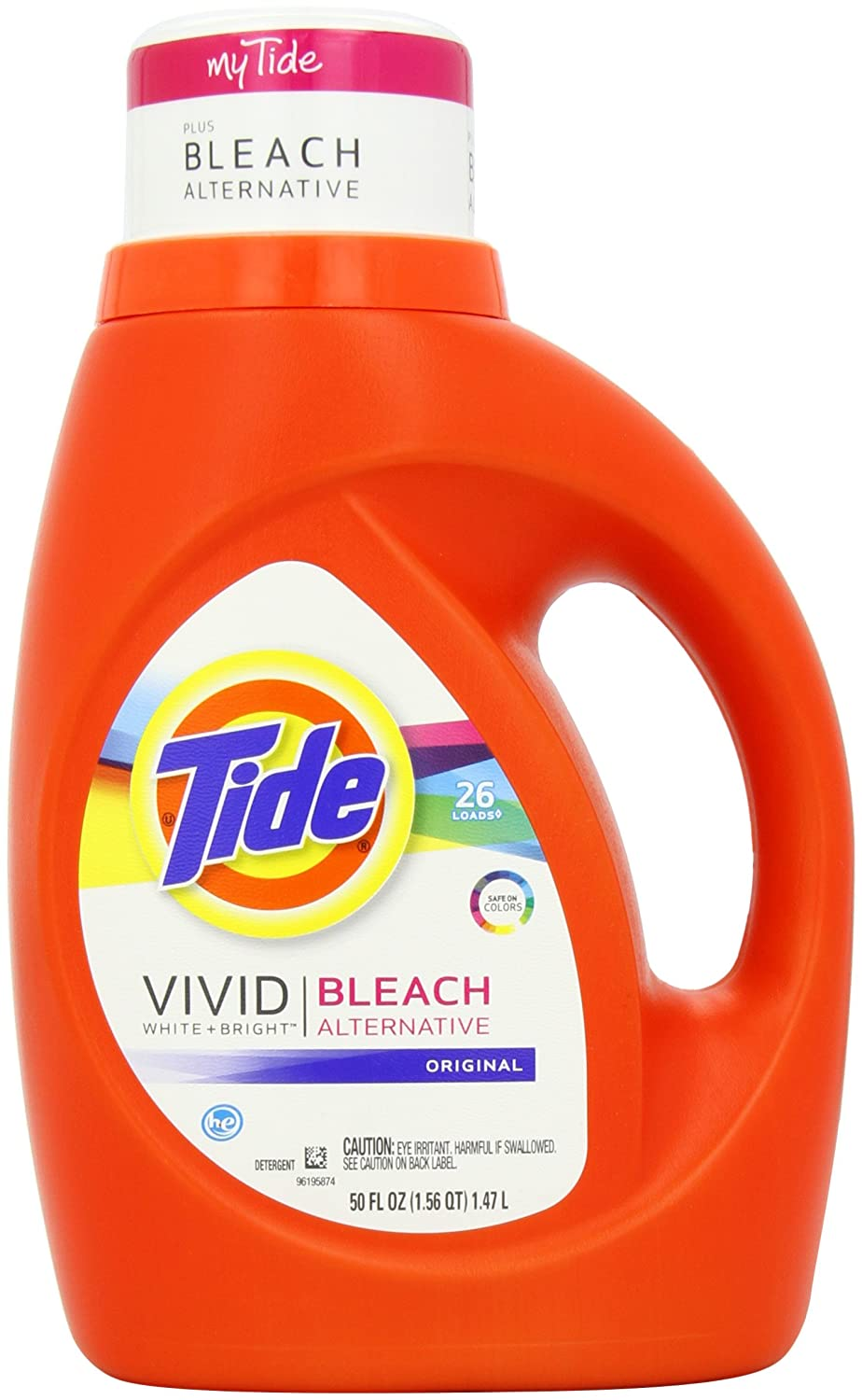 Tide Vivid White + Bright HE Original Scent Liquid Laundry Detergent 26 Loads 50 Fl Oz (Pack of 2) $12.00