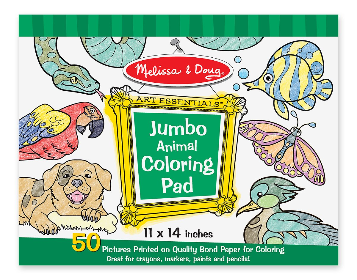 Melissa and Doug Jumbo Coloring Pad- Animals