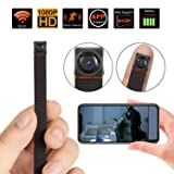 Spy Hidden Camera WiFi, Mini Hidden Camera Wireless 1080P HD Monitoring Security Camera with Motion Detection Nanny Camera Surveillance Cam for Home Office, Fit Indoor & Outdoor (Color: Black)