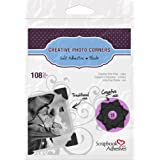 3L Scrapbook Adhesives Self-Adhesive Creative Paper Photo Corners, Black, 108-Pack