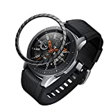 BaiHui Compatible Galaxy Watch Bezel Ring 46mm / Galaxy Gear S3 Frontier & Classic Bezel Ring,Stainless Steel Bezel Ring Protection Cover for Galaxy Watch Accessory (01-Black) (Color: 01-Black)