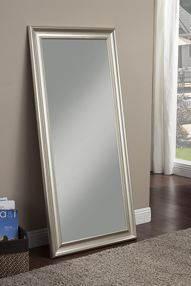 Sandberg Furniture Champagne Silver Full Length Leaner Mirror
