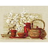 Tea Counted Cross Stitch Kit-11.75x9.5 14 Count