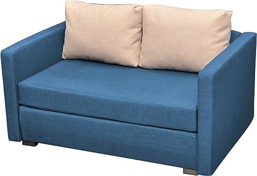 """VCM 2er Couch """"Engol"""" Blau"""