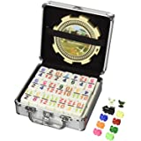 Double 12 Numeral Pro Size Mexican Train & Chicken Domino Set (Tamaño: Full pack with carrying case)