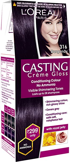 loreal paris casting creme gloss shade burgundy 21 g 24 ml - Coloration Casting Creme Gloss