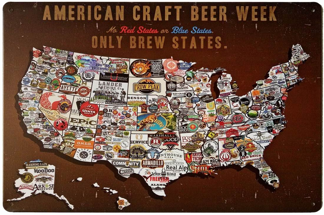ERLOOD Tin Signs Vintage Wall Retro Metal Bar Pub Poster American Craft Beer Week 0