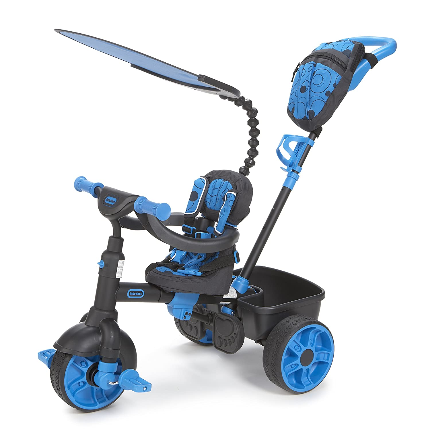 An Image of Little Tikes 4-in-1 Ride On, Neon Blue, Deluxe Edition