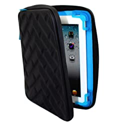 Gumdrop Cases Drop Tech Series Protective Sleeve For All iPads - Black/Blue