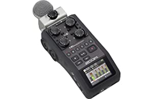 Zoom H6 Six-Track Portable Recorder with Zoom APH-6 Accessory Pack for H6, Headphones, 32GB SDHC Card, Batteries, Stereo Cables