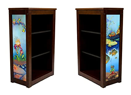 Book Cabinet - Frogs Turtles Fish Flowers Oh my - Lary McKee