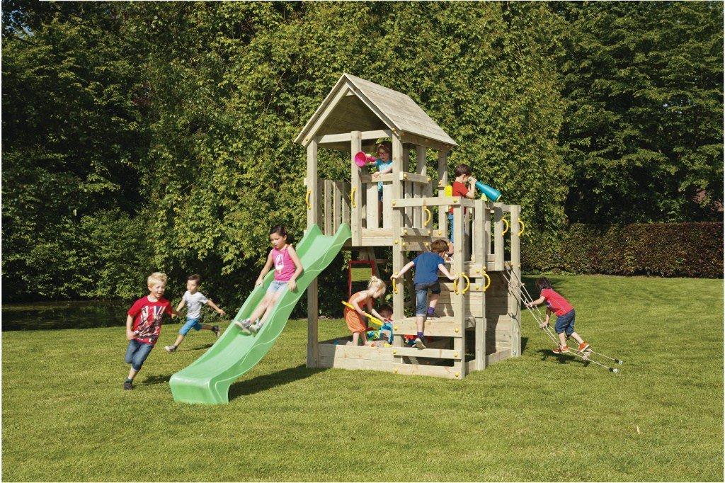 Spielturm Penthouse – Blue Rabbit 2.0 – Bausatz Rutsche 240 / 300cm Kletterturm günstig