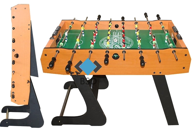Tischfußball - hochgezogene Spielfeldecken, inkl. 2 Bälle - Kicker - Kickertisch faltbar - Tischkicker - Kicker Tischfußbal - Fußballtisch - Fußballspiel - Kickertisch