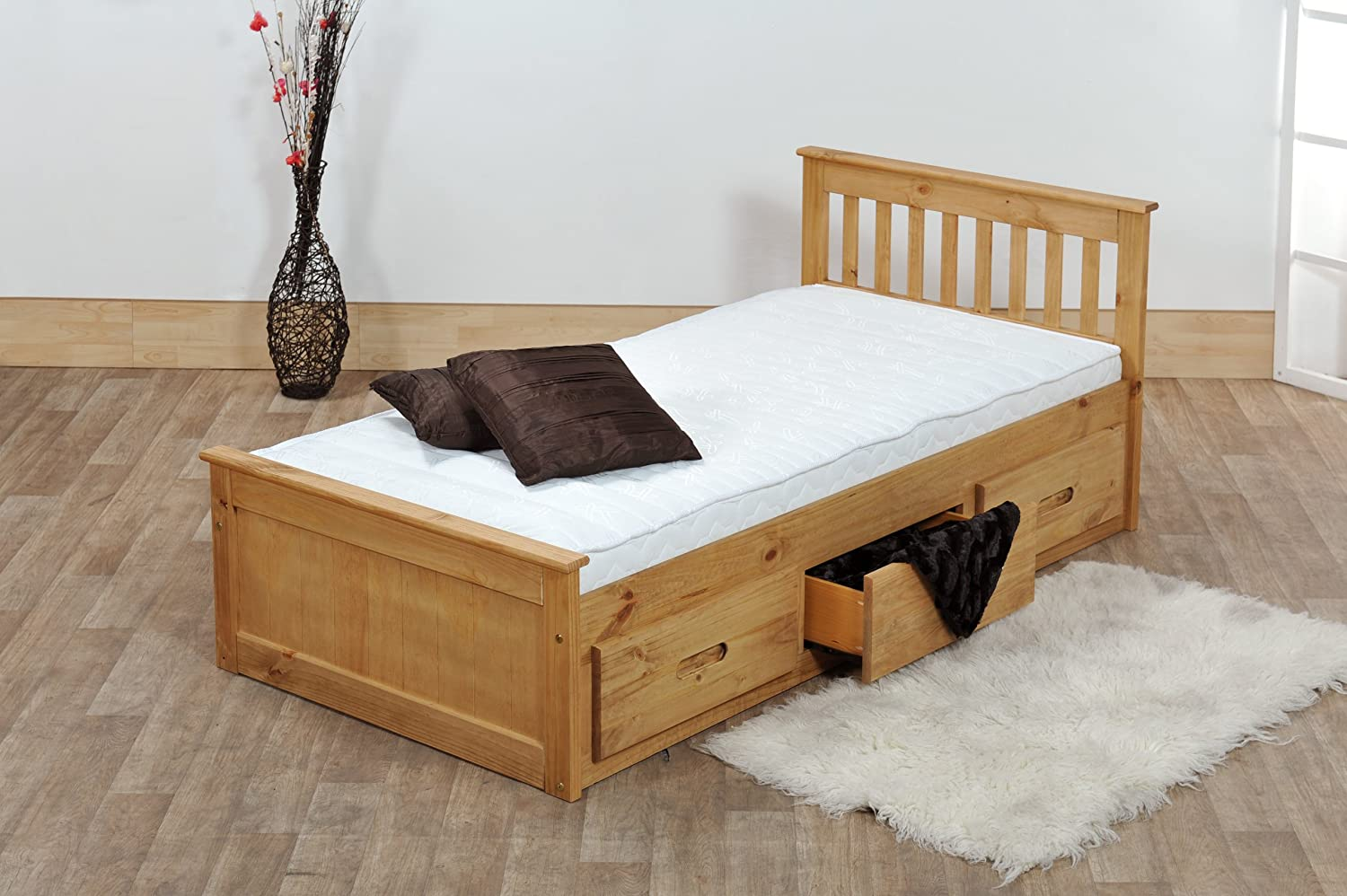 Wooden Beds With Storage ~ Kids beds ft pine captains bed with underbed