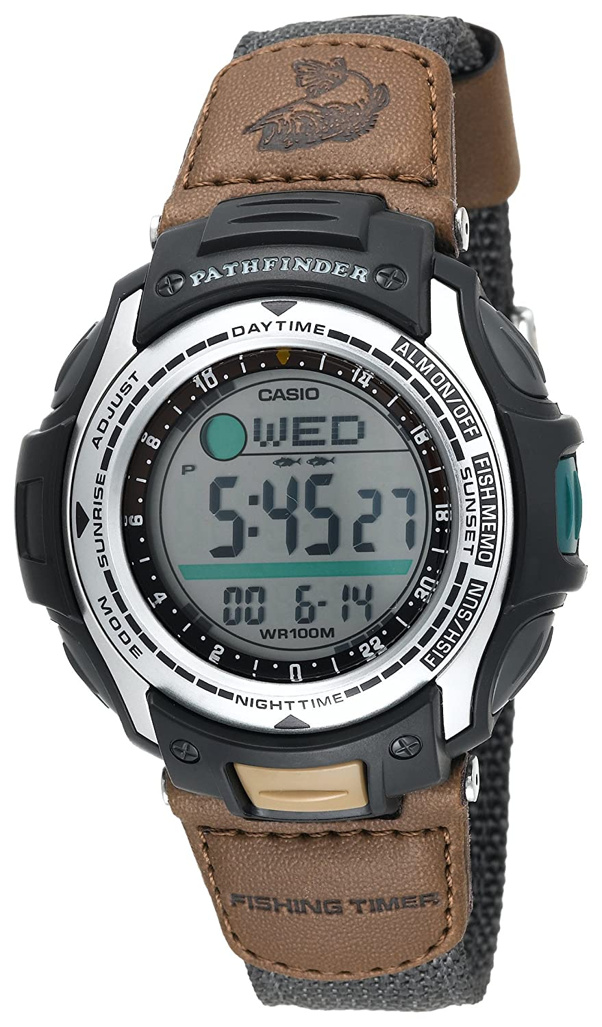 Casio Men's PAS400B-5V Pathfinder Forester Fishing Moon Phase Watch $30.00