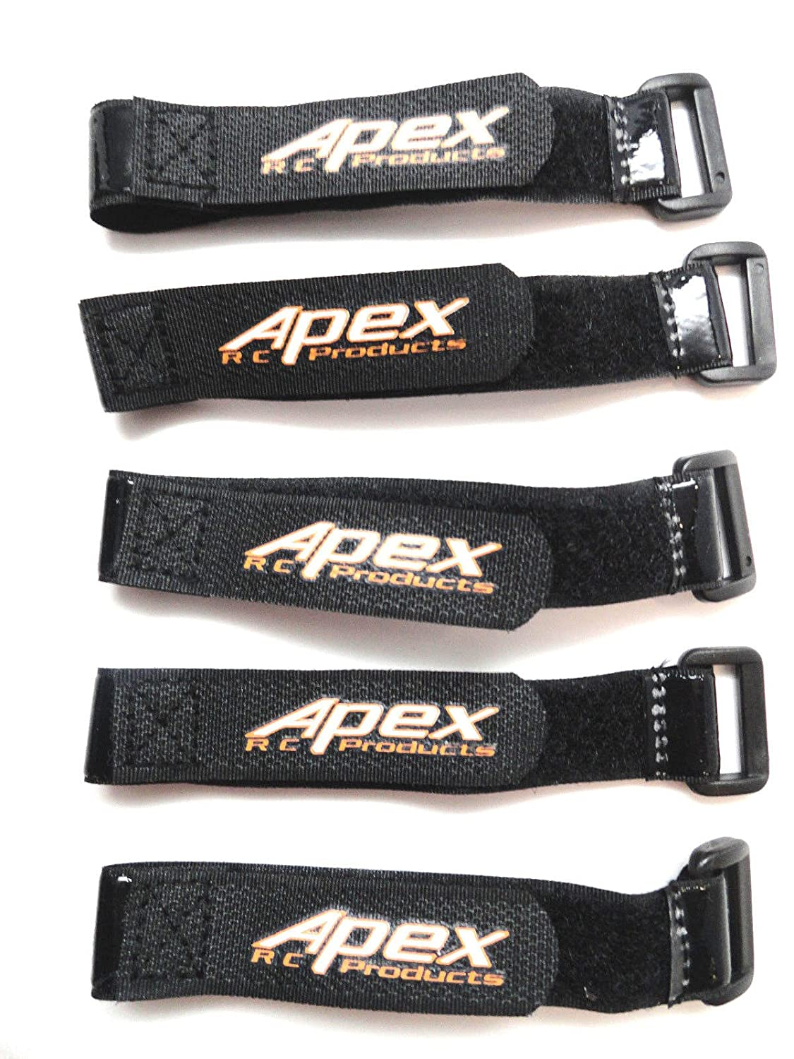 5 PACK 20mm x 200mm HD Rubberized Velcro Battery Straps Non-Slip - Apex RC Products #3030