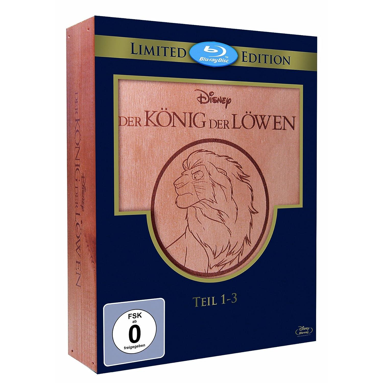 Der König der Löwen 1-3 - Trilogie (Holzbox) (Blu-ray)