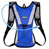 Hydration Pack Water Rucksack Backpack Bladder Bag Cycling Bicycle Bike/Hiking Climbing Pouch + 2L Hydration Bladder,(Blue+Water Pouch)