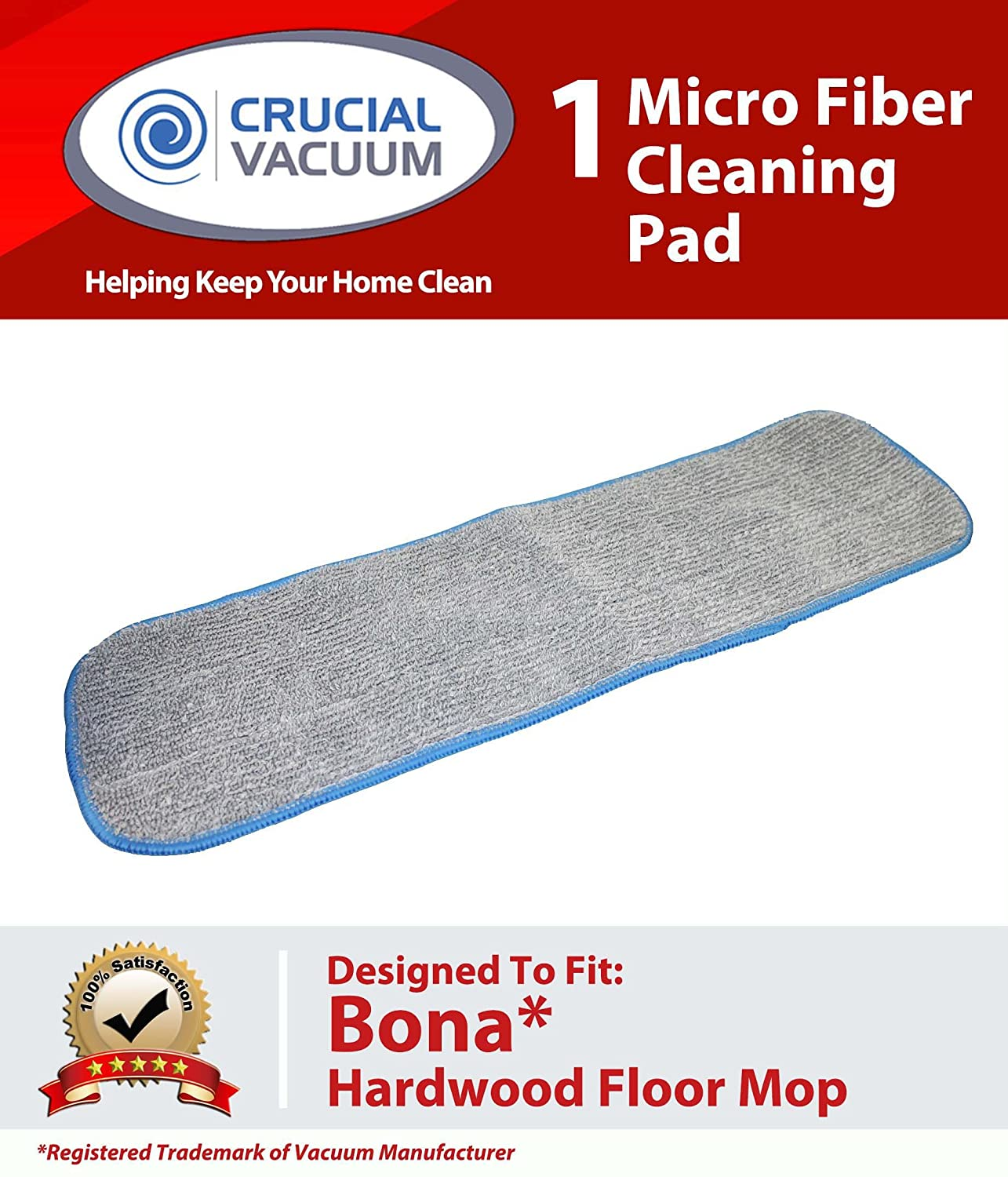 Crucial Vacuum Bona Hardwood Floor Micro Fiber Cleaning Pad fits Bona Hardwood Floor Mops, 15in Mohawk, Bona, Orange Glow and Many More at Sears.com