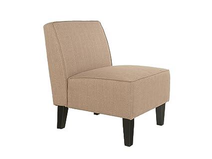 Polsterstuhl Sessel Aldo in Webstoff Beige