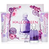 Halloween by J. Del Pozo for Women - 4 Pc Gift Set 3.4oz EDT Spray, 5oz Fruit Body Lotion, 5oz Shower Gel Bubbles, 0.15oz EDT Splash (Tamaño: 4 Pc Gift Set)